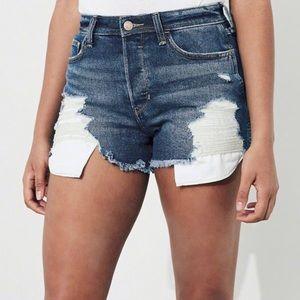 NWT Women's 28 Hollister Jean High Rise BF Shorts